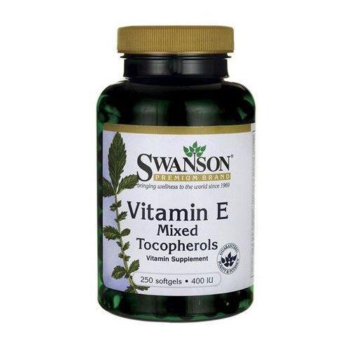 Witamina E 400 IU mieszanka tokoferoli Vitamin E mixed tocopherols 250 kapsułek SWANSON, 087614011523