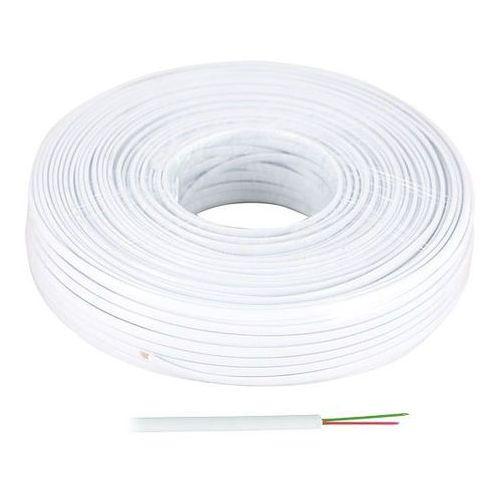 Kabel telefoniczny płaski 2 żyłowy biały, KAB0500