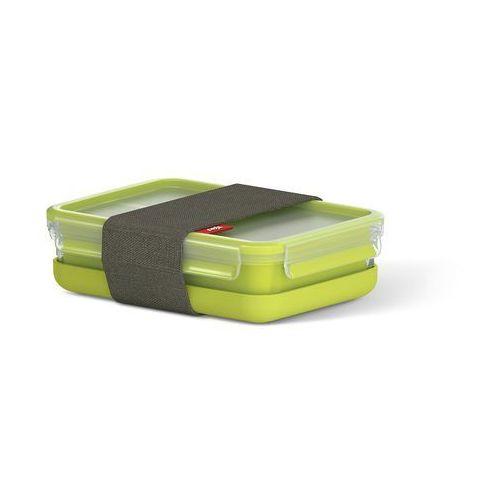 clip & go box, pudełko spożywcze z tworzywa sztucznego, zielone, zielony, 22.5 x 16.3 x 6.3 cm marki Emsa