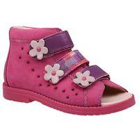 Dawid Sandałki profilaktyczne ortopedyczne buty 1041 różowe rcf - fuksja   różowy