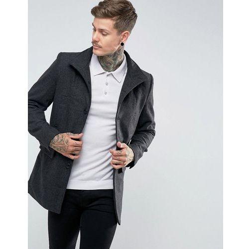 wool blend military jacket - grey, Bellfield