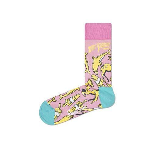 Happy Socks Don't Panic Skarpetki Zielony Różowy Żółty 36-40 (7333102048889)