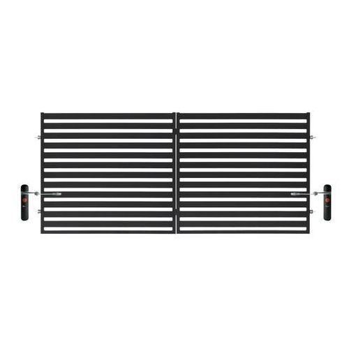 Polbram steel group Brama dwuskrzydłowa lara 2 automatyczna 350 x 154 cm czarna (5901122310440)
