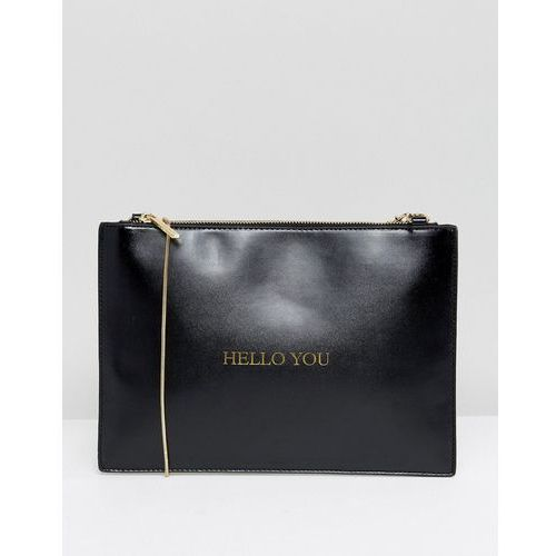 Johnny Loves Rosie Hello You Clutch Bag - Black, kolor czarny