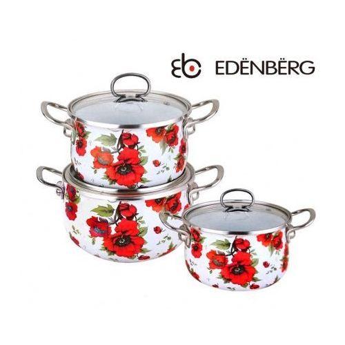GARNKI EMALIOWANE EDENBERG POPPY 6 ELE [EB-1855], EB-1855