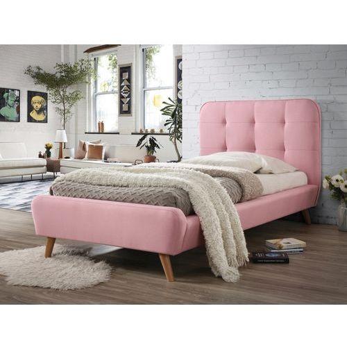 Łóżko tiffany 90x200, różowy - styl skandynawski, dostawa gratis marki Signal