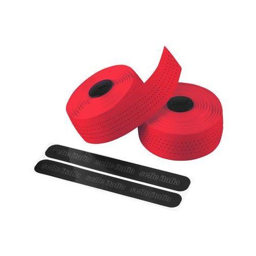 Owijka na kierownicę SELLE ITALIA CLASSICA gr.2,5mm żelowa skórzana czerwona