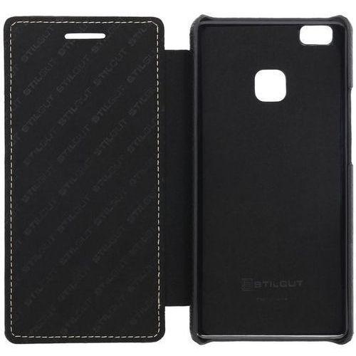 Stilgut Book Czarne | Etui z klapką typu książka dla modelu Huawei P9 Lite