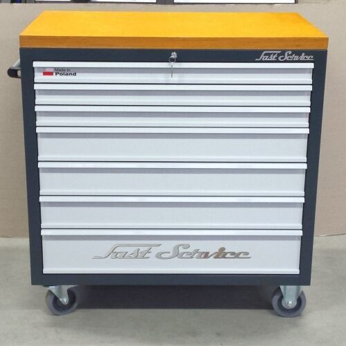 Fastservice Wózek narzędziowy - 7 szuflad - do warsztatu, do fabryki, linia produkcyjna