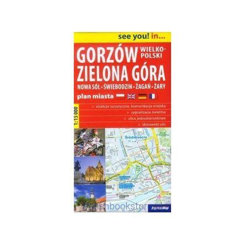 Gorzów Wielkopolski Zielona Góra plan miasta1:15 000 - OKAZJE