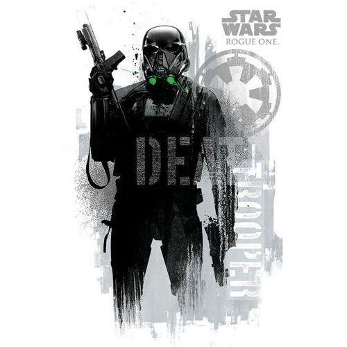 Łotr 1. gwiezdne wojny death trooper grunge - plakat marki Gf
