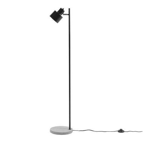 Beliani Lampa stojąca czarna 123 cm corbones (4260586358322)