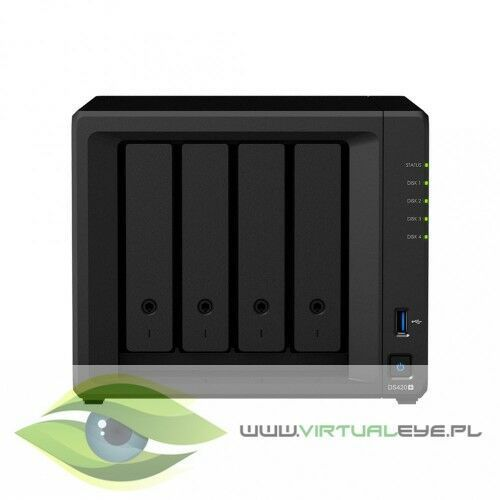 Synology Serwer NAS DS420+ 4x0HDD 2GB DDR4 2,9Ghz 2xRJ45 2xUSB3.0