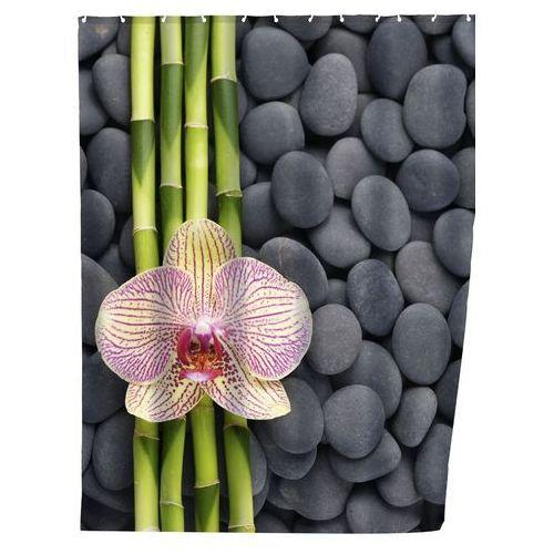 Zasłona prysznicowa SPA, tekstylna, 180x200 cm, WENKO, B00NHWSTVA