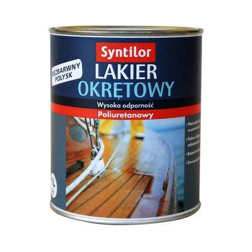 Lakier zewnętrzny do drewna okrętowy 0,5 l bezbarwny marki Syntilor