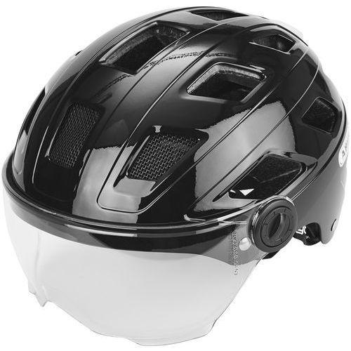ABUS Hyban + Kask rowerowy Visor clear czarny M | 52-58cm 2018 Kaski rowerowe (4003318727634)