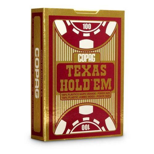 Talia Texas Hold'em 100% plastic jumbo index - czerwona - Cartamundi, 1_586907