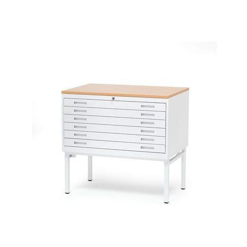 Metalowa szafka na rysunki z 6 szufladami 990x680x950mm Kolor: Buk