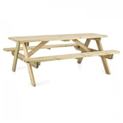 Blumfeldt picknicker 180 stól piknikowy zestaw mebli ogrodowych 32 mm fsc sosna