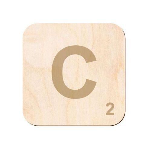 Congee.pl Drewniana dekoracja na ścianę scrabble - literka c