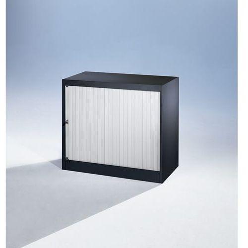 Szafka z roletami euro, szer. 800 mm, 1 półka, czarny / jasnoszary. komplet z pó marki Bisley