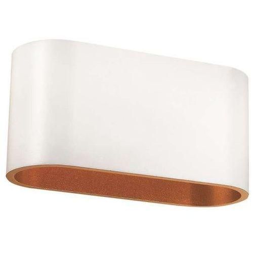 Kinkiet lampa ścienna a1235-w/g mlamp minimalistyczna oprawa metalowa biała złota marki Mlamp-%