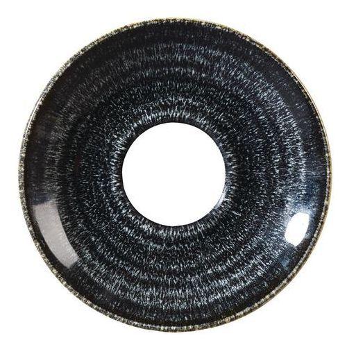 Spodek okrągły do filiżanki 118 mm   CHURCHILL, Homespun Style Charcoal Black