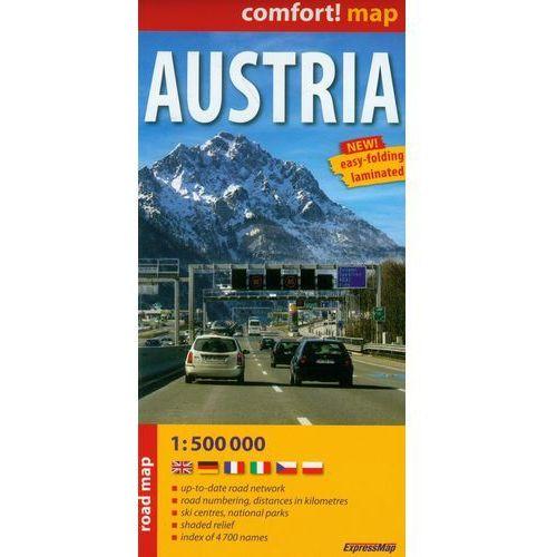Austria Road Map 1:500 000, książka w oprawie miękkej