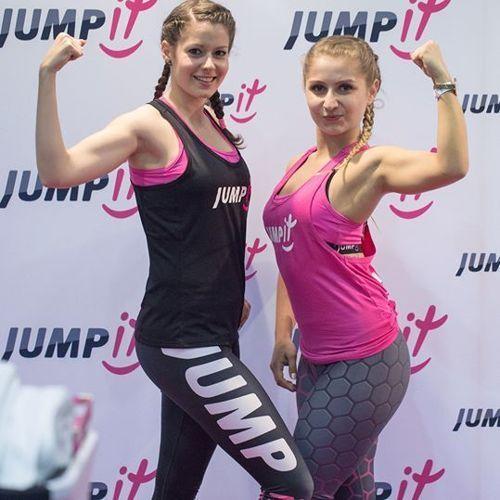 JUMPit - Top z wycięciem grafitowy - M