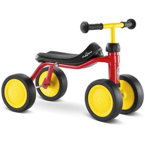 Puky rowerek biegowy na czterech kółkach pukylino kolor czerwony 4019 (4015731040191)