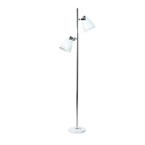 Eth Lampa podłogowa acate retro biała