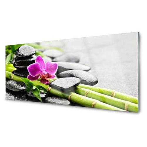 Panel Kuchenny bambus Kwiat Kamienie Sztuka