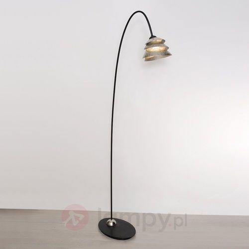 Holländer snail one lampa stojąca czarny, srebrny, 1-punktowy - klasyczny - obszar wewnętrzny - one - czas dostawy: od 8-12 dni roboczych (4250151330044)