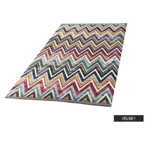 Selsey chodnik folkfur kolorowe zygzaki 75x300 cm