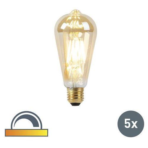 Zestaw 5 żarówek led e27 8w 2000-2600k ściemnialna regulowana barwa światła marki Luedd