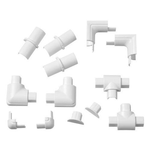 D-line Akcesoria do listwy połączeniowej 16 x 8 mm białe 13 szt. (5060125595527)