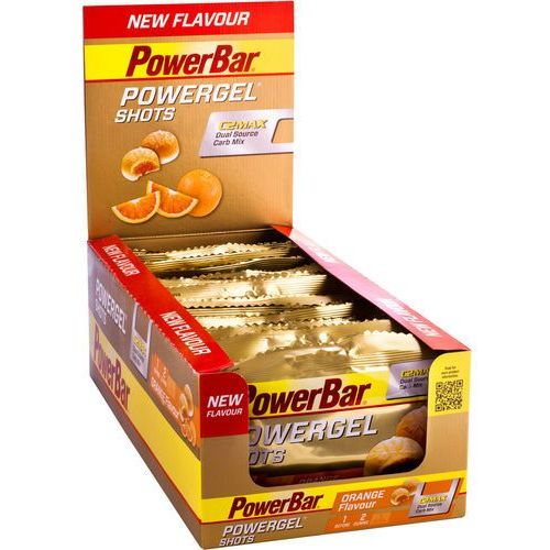 Powerbar powergel shots żywność dla sportowców orange 16 x 60g 2018 zestawy i multipaki