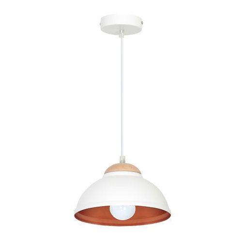 Luminex Lampa wisząca arne 7401 lampa sufitowa 1x60w e27 biały / miedziany (5907565974010)