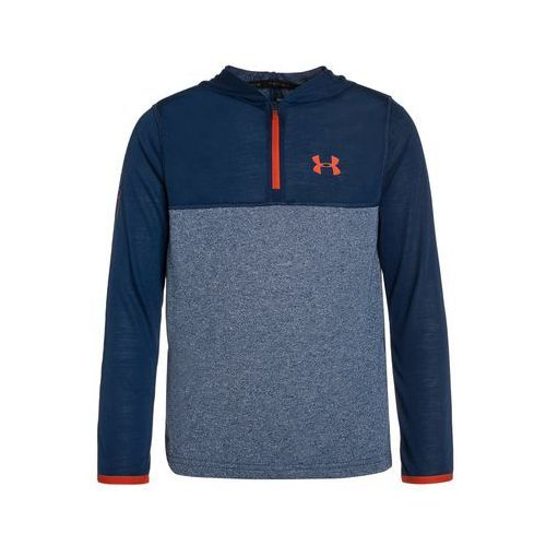 Under Armour THREADBORNE Bluzka z długim rękawem blackout navy/dark orange