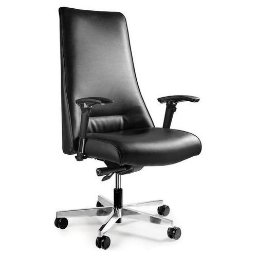 Fotel biurowy SAIL czarny skóra naturalna