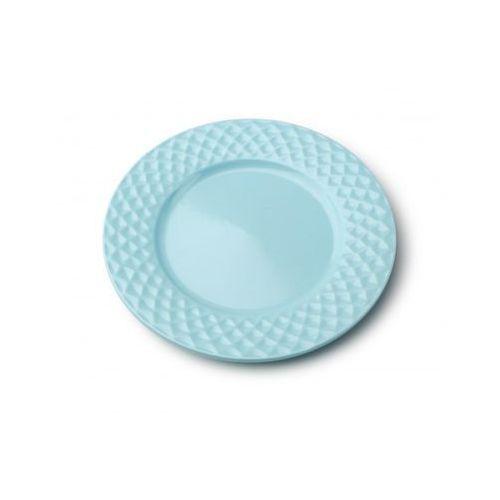 Mondex Talerz deserowy porcelanowy diamond blue romby