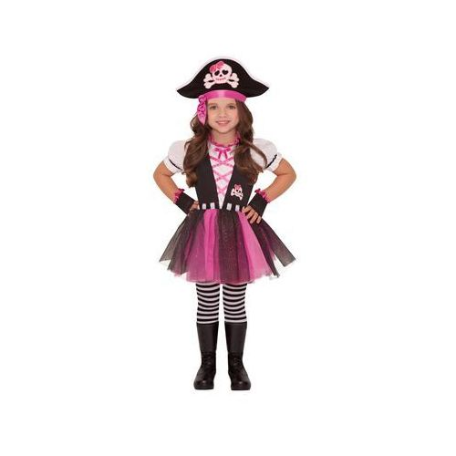 Amscan Kostium różowa piratka dla dziewczynki - 5/7 lat (116)