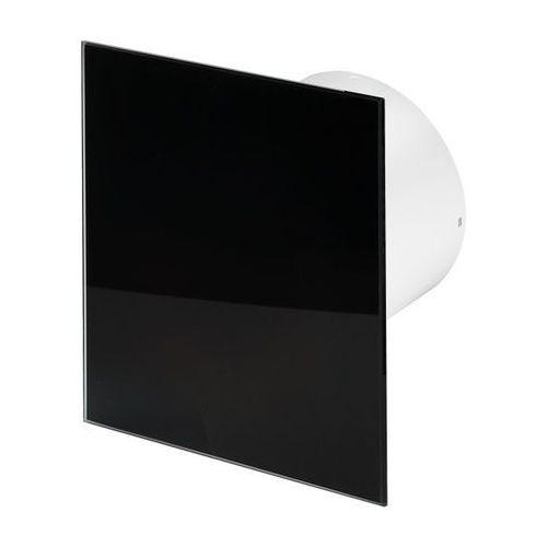 Cichy wentylator łazienkowy Silent + Wymienne Panele Czołowe Różne Funkcje: Higro,Timer Model: Włącznik pociągany, Średnica: 100 mm, Panel frontowy: Czarne szkło