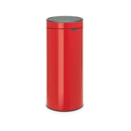 - kosz touch bin - 30 l - plastikowe wiaderko - czerwony - czerwony marki Brabantia
