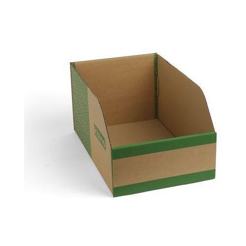 Skrzynki regałowe z kartonu, składane, opak. 75 szt., dł. x szer. x wys. 400x250
