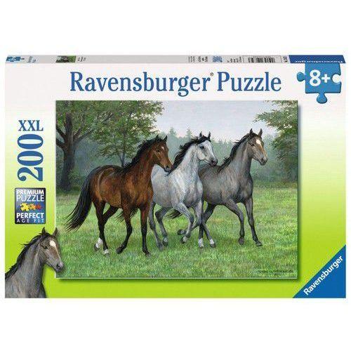 Puzzle XXL 200 3 konie - Ravensburger. DARMOWA DOSTAWA DO KIOSKU RUCHU OD 24,99ZŁ