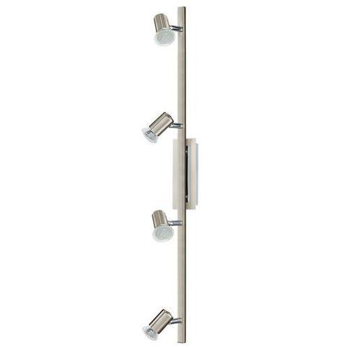 Eglo Listwa rottelo 90917 lampa sufitowa plafon spot 4x3w gu10 satyna/chrom (9002759909178)