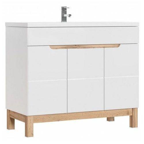 Szafka lazienkowa pod umywalkę Marsylia 8X - Biały połysk, kolor biały
