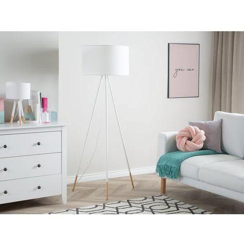 Lampa stojąca biała 157 cm tobol marki Beliani