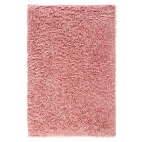 Dywan ze sztucznej owczej skóry, wysokie runo bonprix dymny różowy